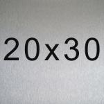 Aluminio 20x30 cm
