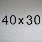 Aluminio 40x30 cm
